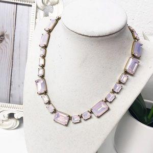 J. Crew • Pink Iridescent Rectangle Necklace